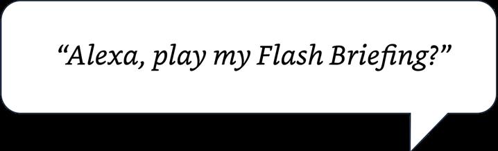 Alexa, play my Flash Briefing.